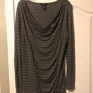 White House Black Market Grey Long Sleeve Shirt